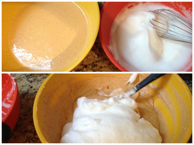 mixing waffles