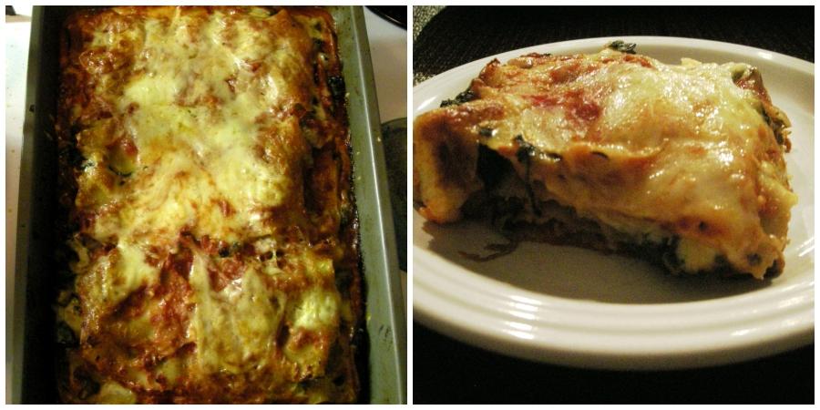 lasagna cooked