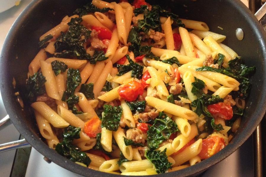 pasta in pot edited