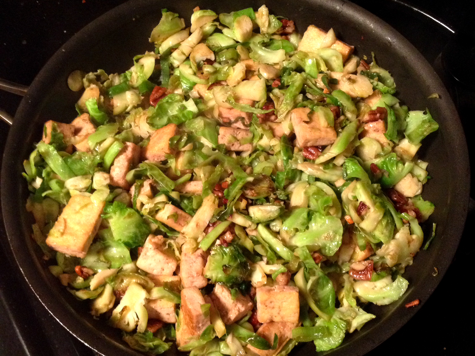 enter the shredded brussels sprout these sprouts are sliced thinly and ...